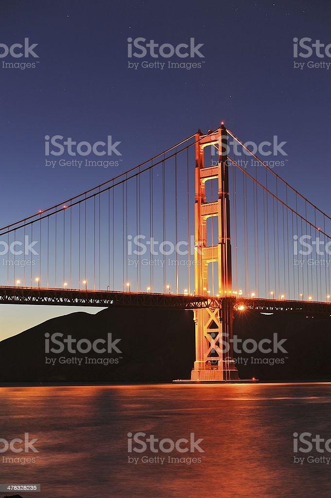 Golden Gate Bridge at Twilight royalty-free stock photo