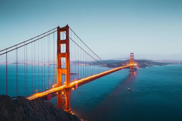 Golden Gate Bridge in der Dämmerung, San Francisco, Kalifornien, USA – Foto