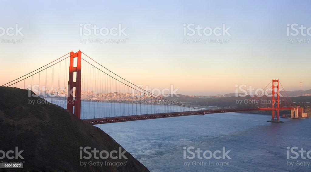 Golden Gate Bridge before the sunset royalty-free stock photo