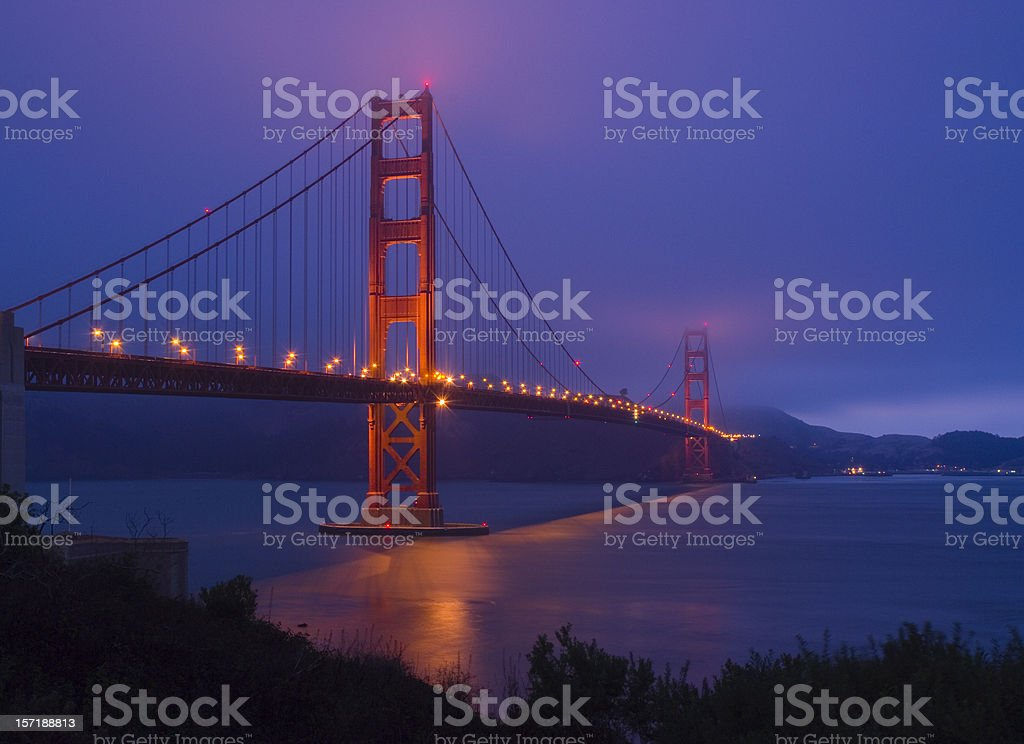 Golden Gate Bridge Dusk 2 royalty-free stock photo