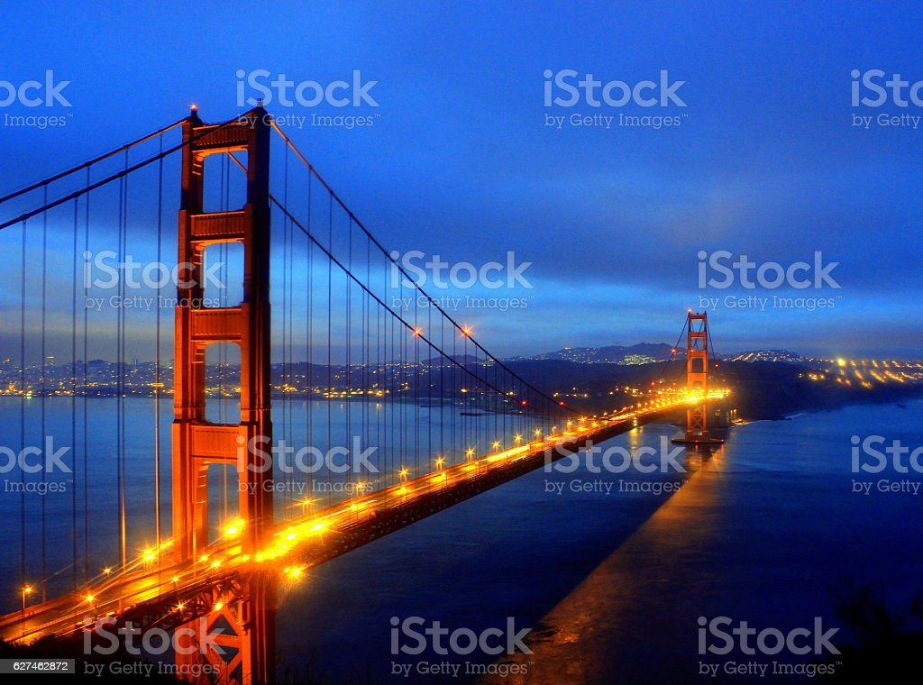 Golden Gate Bridge Early Morning stock photo