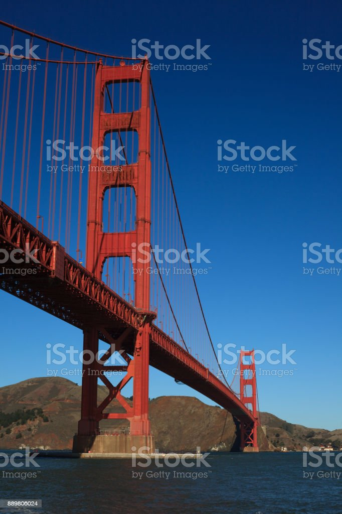 Golden Gate Bridge from Fort Point stock photo