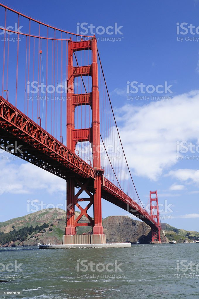 Golden Gate Bridge from Fort Point - Vertical orientation royalty-free stock photo