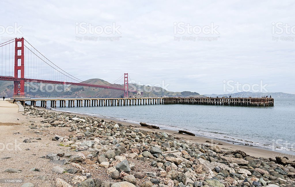 Golden Gate Bridge from Shoreline royalty-free stock photo