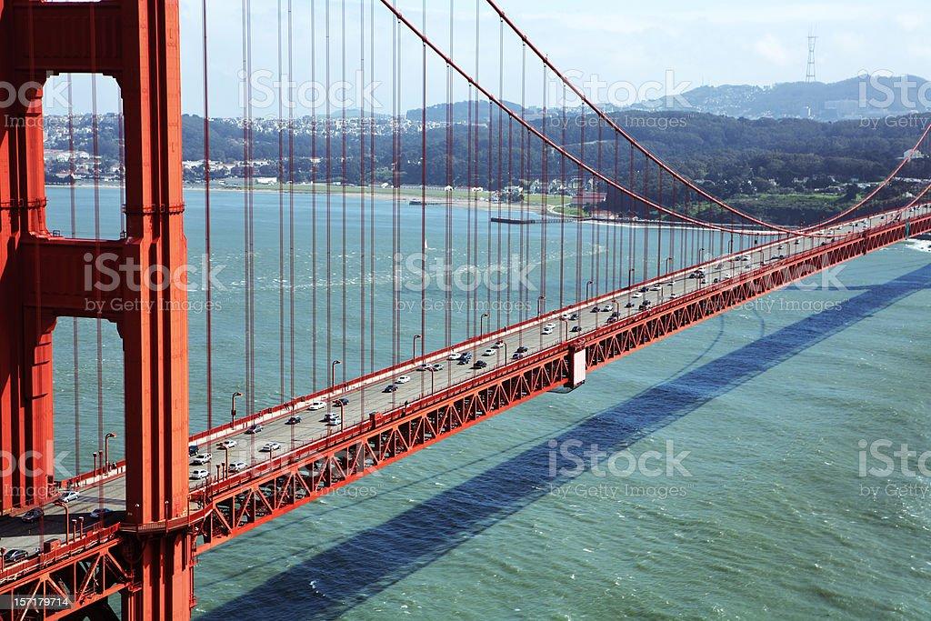 Golden Gate Bridge Horizontal Portrait royalty-free stock photo
