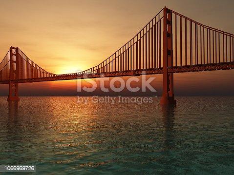 1030949292 istock photo Golden Gate Bridge Illustration 1066969726