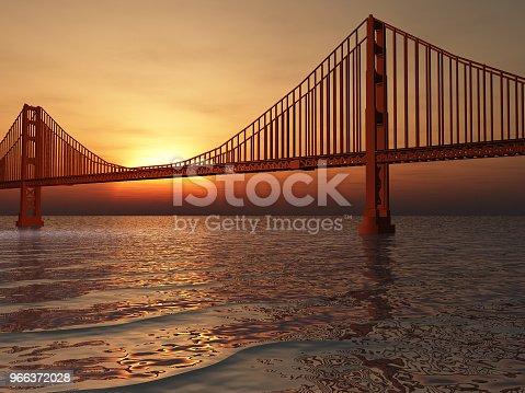 1030949292 istock photo Golden Gate Bridge Illustration 966372028