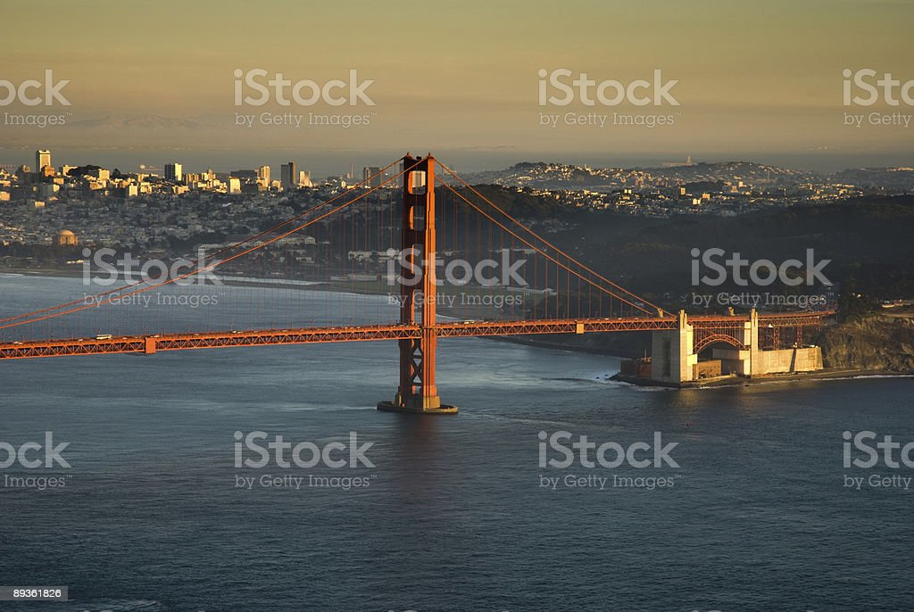 Golden gate Bridge in Late Afternoon royalty-free stock photo