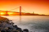 istock Golden Gate Bridge in San Francisco at Sunset 636135134