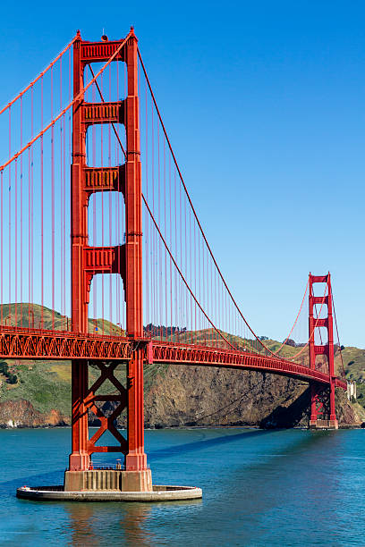 Golden Gate Bridge in San Francisco CA Golden Gate Bridge in San Francisco California from scenic park overlook golden gate bridge stock pictures, royalty-free photos & images