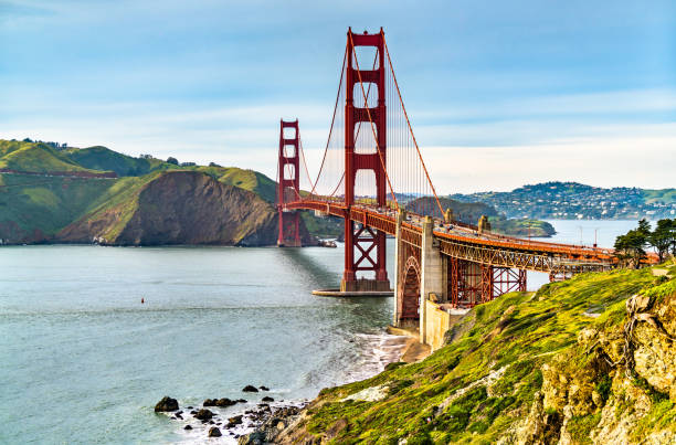 Golden Gate Bridge in San Francisco, California The Golden Gate Bridge in San Francisco - California, the United States golden gate bridge stock pictures, royalty-free photos & images