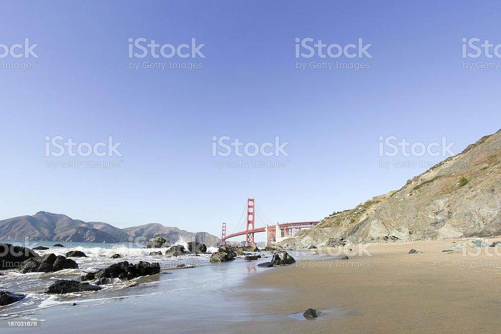 Golden Gate Bridge in San Francisco, California royalty-free stock photo