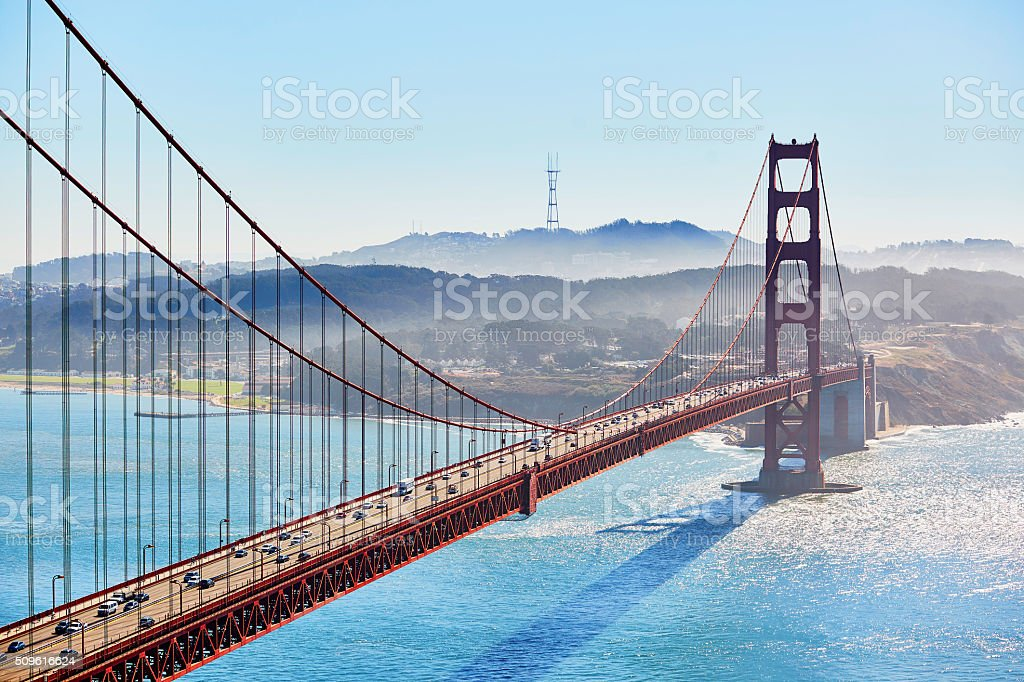 Golden Gate bridge in San Francisco, California, USA stock photo
