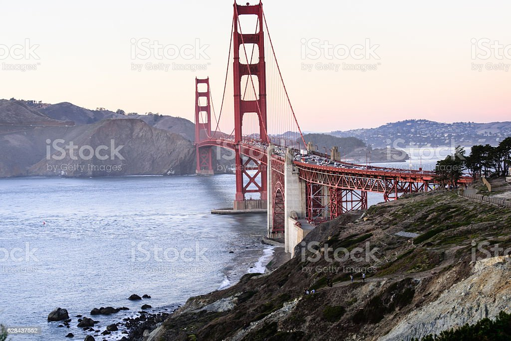 golden gate bridge in San francisco stock photo