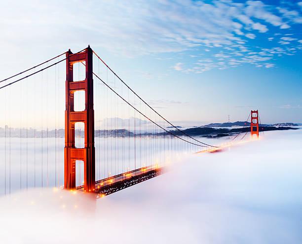 Golden Gate Bridge in San Francisco USA stock photo