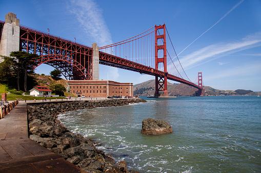 Golden Gate bridge in the bright summer light