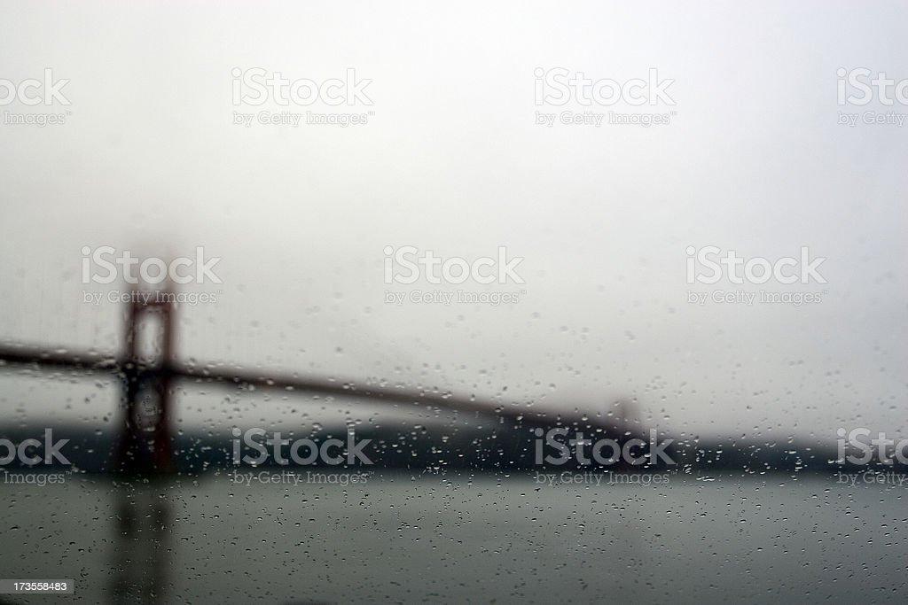 Golden Gate Bridge in the Rain stock photo
