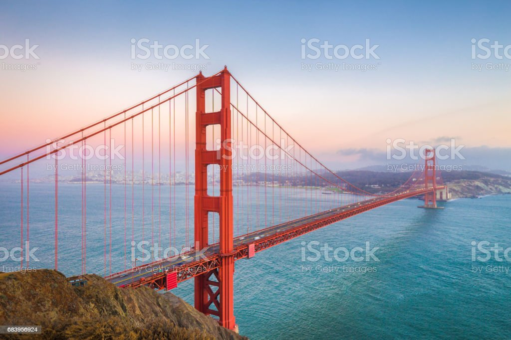 Golden Gate Bridge in der Dämmerung, San Francisco, Kalifornien, USA – Foto