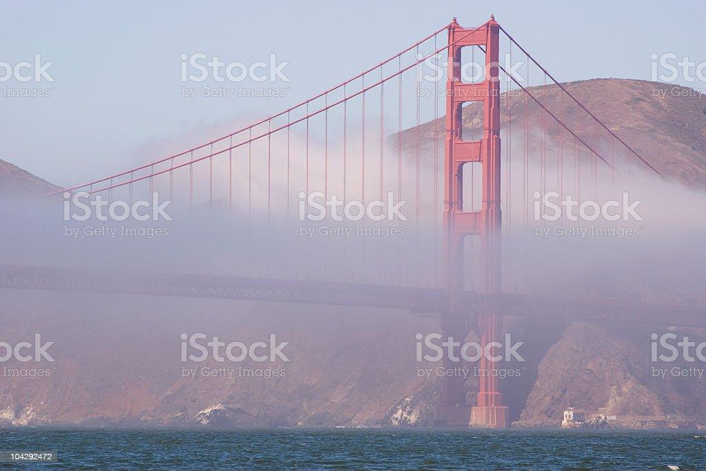 Golden Gate Bridge Marin Tower royalty-free stock photo