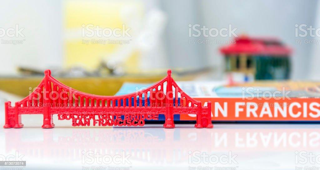 Golden Gate Bridge miniature stock photo