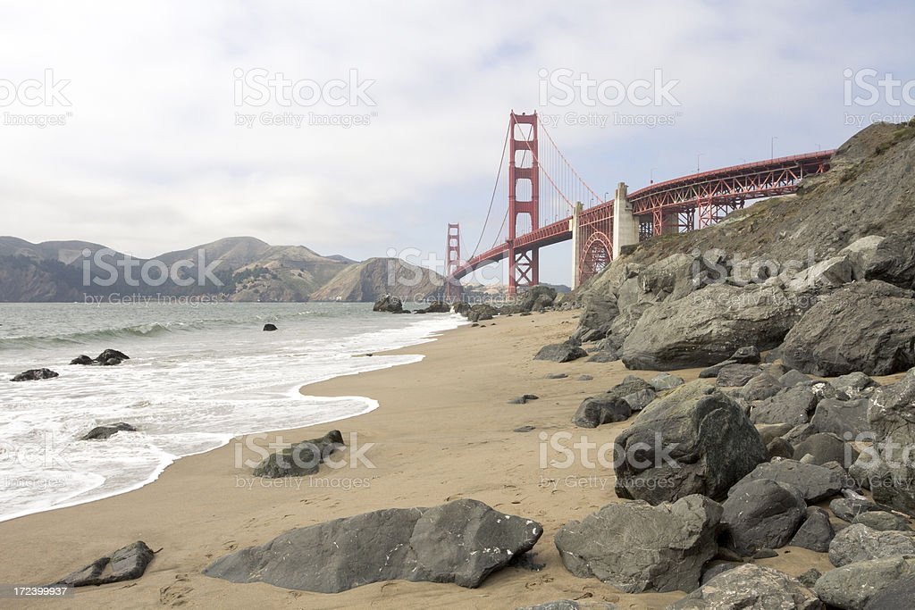Golden Gate Bridge on a clear day royalty-free stock photo