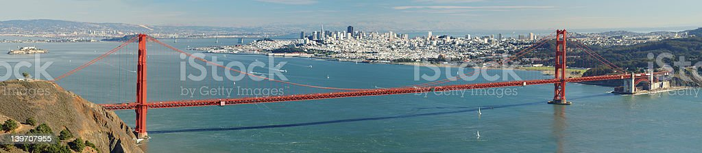 Golden Gate bridge panorama royalty-free stock photo