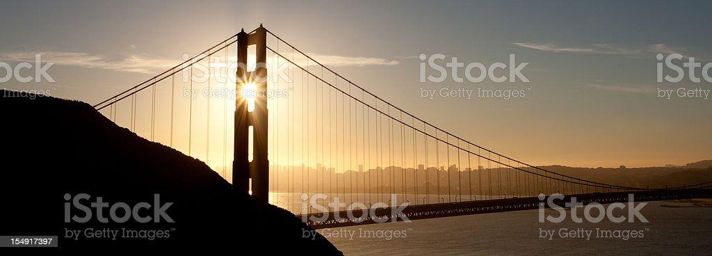 Golden Gate Bridge Panorama royalty-free stock photo