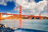 Golden Gate Bridge at sunrise, San Francisco