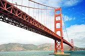 Golden Gate bridge, bottom view.