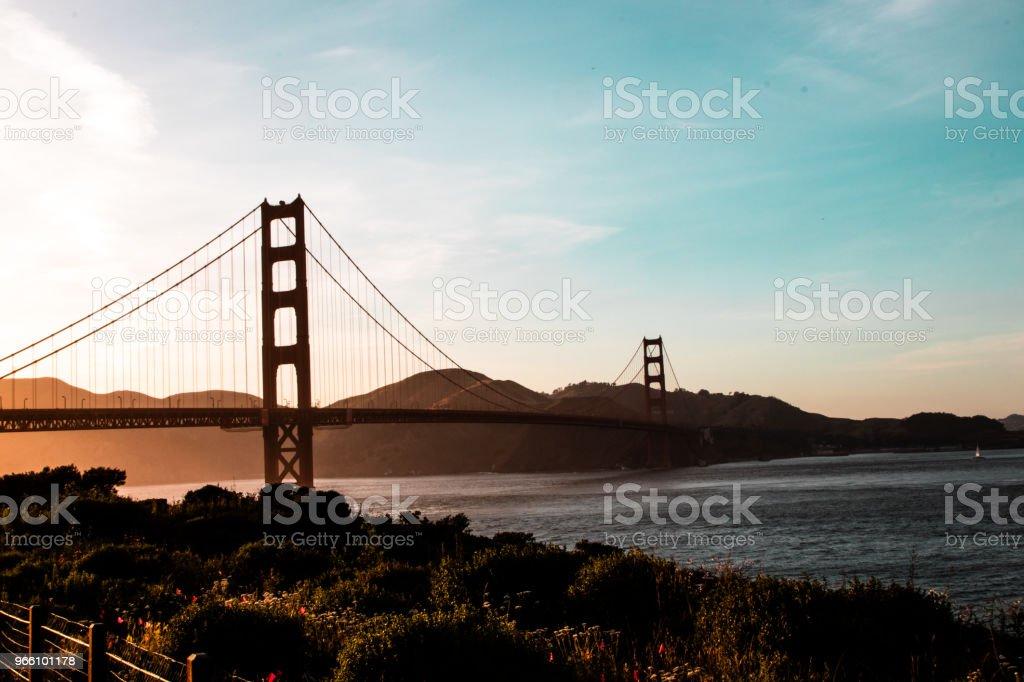 Golden Gate-bron - Royaltyfri Bro Bildbanksbilder