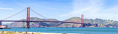 Golden Gate bridge in San Francisco California USA West Coast of Pacific Ocean panorama