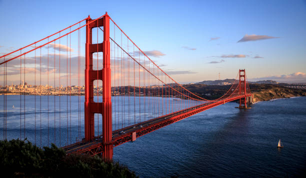 Golden Gate Bridge View of San Francisco from the Golden Gate Bridge golden gate bridge stock pictures, royalty-free photos & images
