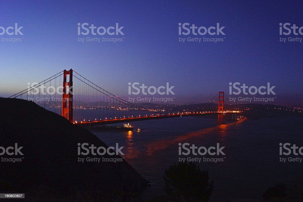 Golden Gate Bridge Reflection stock photo