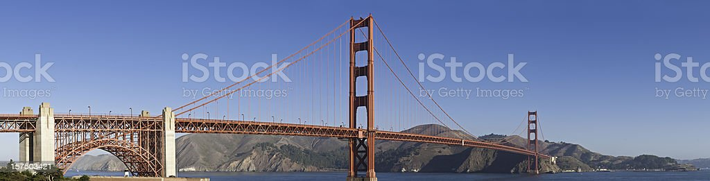 Golden Gate Bridge San Francisco Bay Marin Headlands panorama California royalty-free stock photo