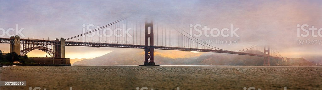 Golden Gate Bridge, San Francisco Bay stock photo