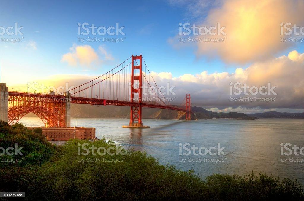 Golden Gate Bridge, San Francisco, California stock photo