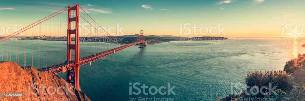 Golden Gate bridge, San Francisco California stock photo