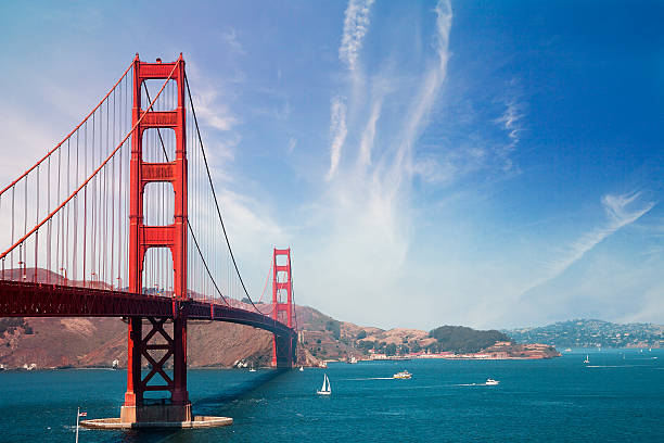 golden gate bridge - san francisco - international landmark stock photos and pictures