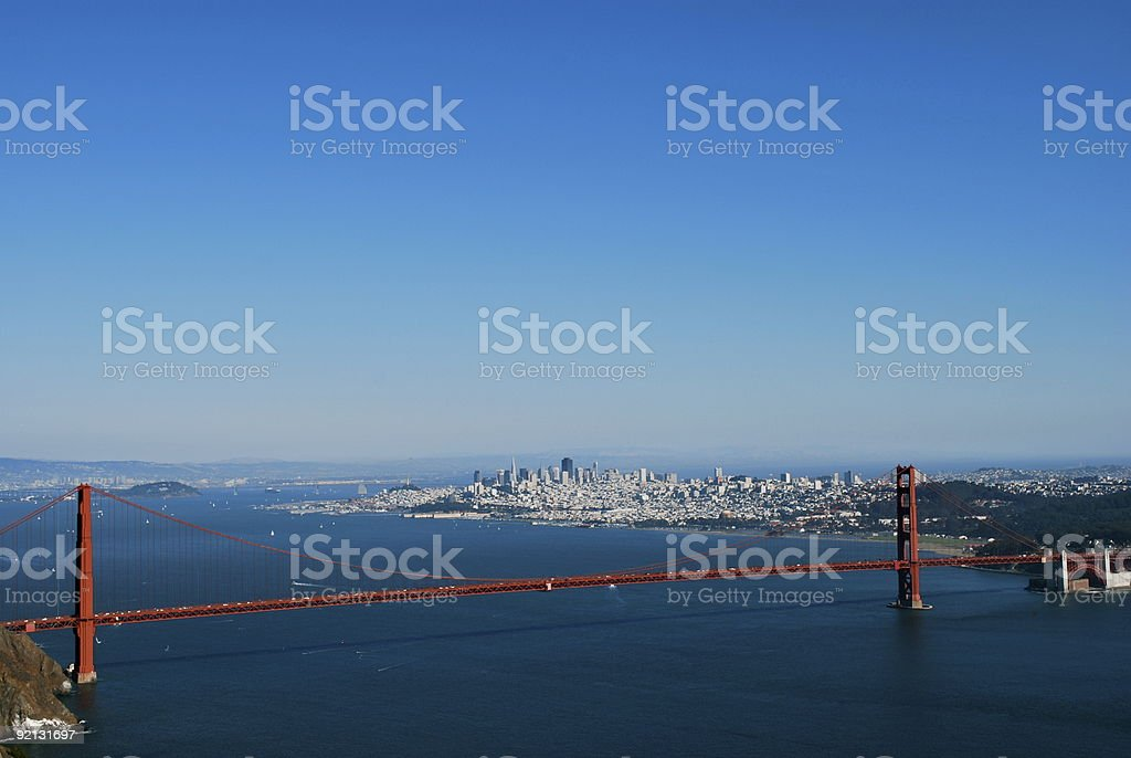 Golden Gate Bridge & San Francisco royalty-free stock photo