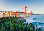 Classic San Francisco, California Golden Gate Bridge Sunset