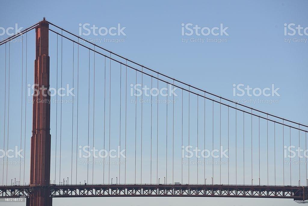 Golden gate bridge : Side view royalty-free stock photo