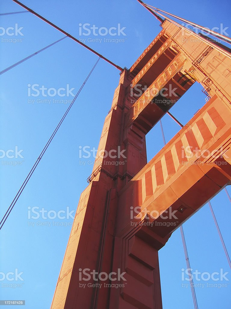 Golden Gate Bridge: south tower stock photo