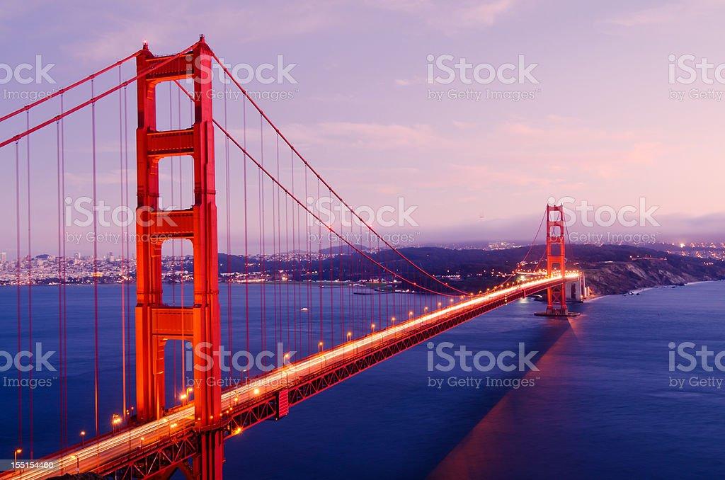 Golden Gate Bridge spans San Francisco Bay royalty-free stock photo