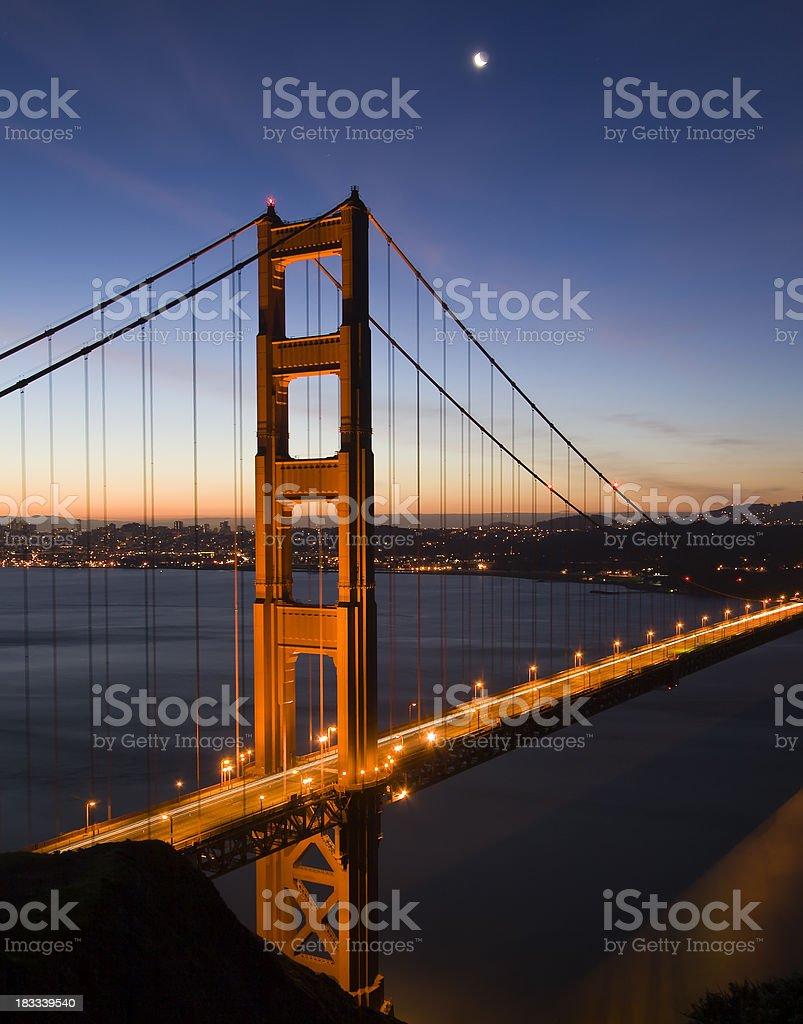 Golden Gate Bridge Sunrise royalty-free stock photo