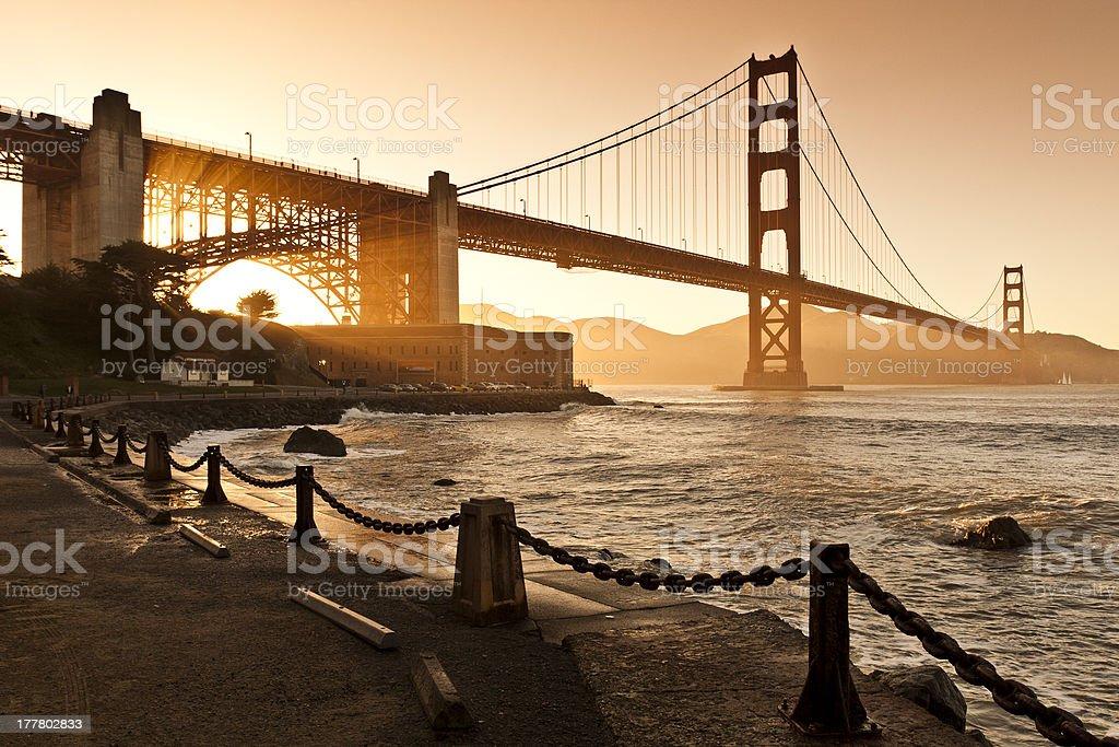 Golden Gate Bridge Sunset royalty-free stock photo