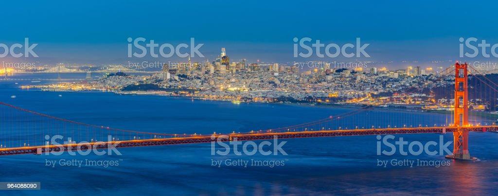 Golden Gate bridge Sunset - Royalty-free Architecture Stock Photo