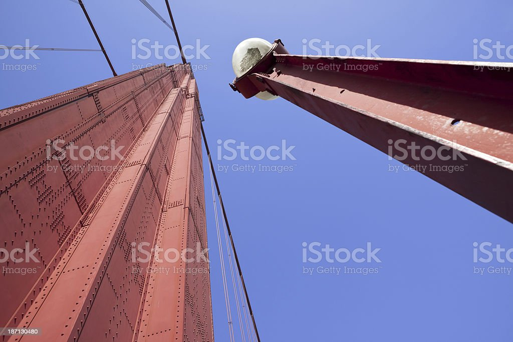 Golden Gate Bridge Tower royalty-free stock photo