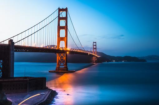 Golden Gate Bridge twilight, San Francisco Bay