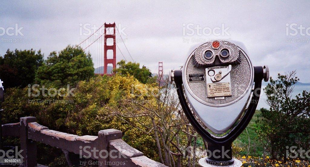 golden gate bridge view san francisco stock photo