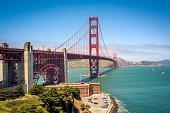 The Golden Gate Bridge in the Summertime in San Francisco, California